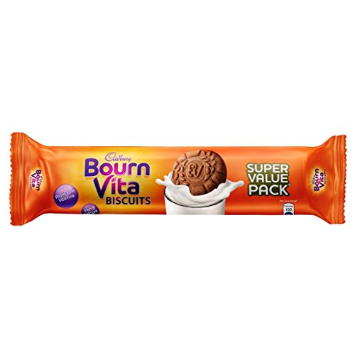 Cadbury Bournvita Pro Health Vitamins Chocolate Biscuits, 120 gm Super Value Pack (Pack of 10)