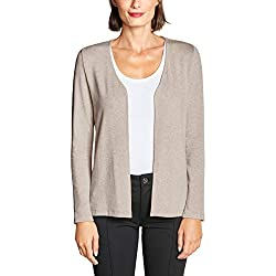 Street One 314026 Jacy Gilet, Beige (Bisquit Mélange 11851), 42 (Taille Fabricant: 40) Femme