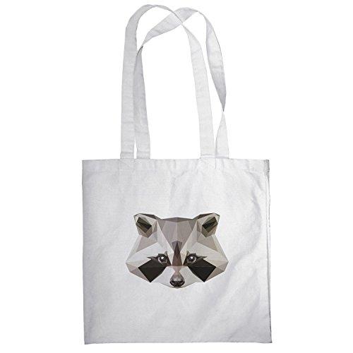 Texlab–Poly Racoon–sacchetto di stoffa Bianco