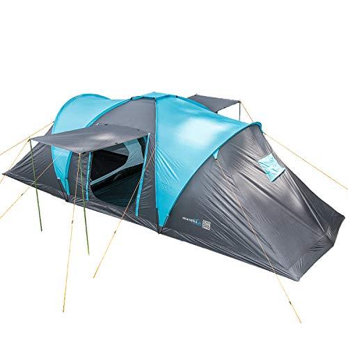 Tienda Tunel toldo y Piso 7 Personas JUSTCAMP Atlanta 3 Tienda de Camping Familiar 5