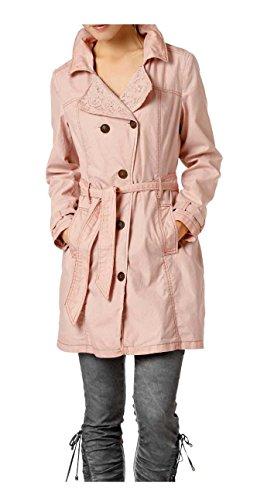 Linea Tesini Designer-Kurzmantel Trenchcoat mit Spitze rosé (44)