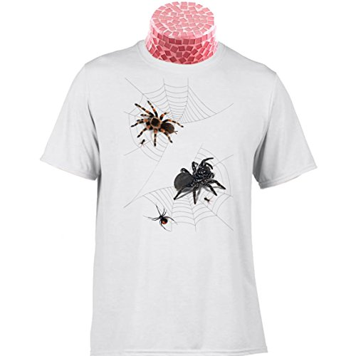 Spider Horror Halloween T Shirt, Tarantula and Mouse Spider. Can be a Personalised T Shirt. Add Any Name and/Or a Short Message