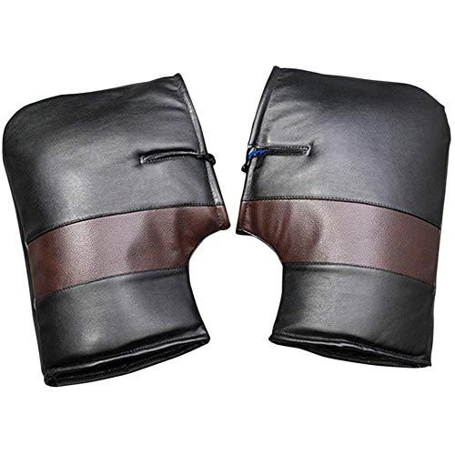TOOGOO Motorrad-Lenker Handschuhe, Gro?Er Thermischer Wasserdicht und Winddicht Warm Scooter Handschutz Kit für Scooter Elektroautos -
