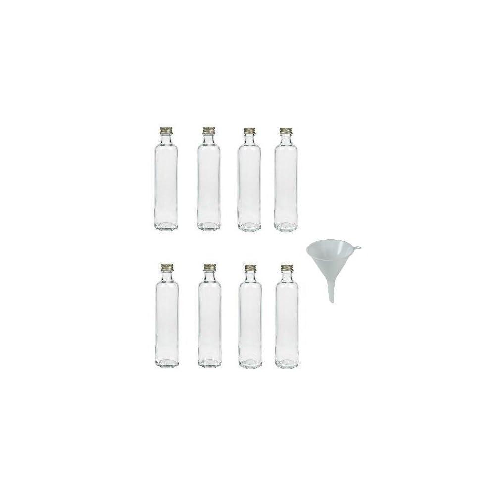 Viva Haushaltswaren Glasflasche Mit Schraubverschluss Zum Selbstbefllen Inkl Einem Einflltrichter 9 Cm