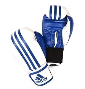 adidas Response Boxing Gloves - White/Blue, 10 oz