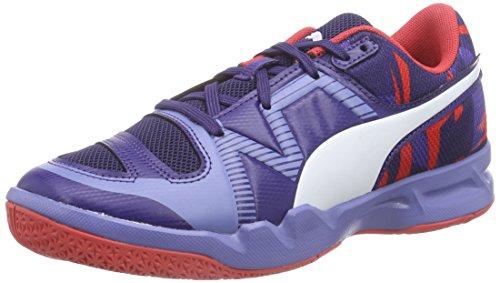 Puma evoIMPACT 5 Jr, Scarpe Sportive Indoor Unisex - Bambino, Blu (Blau (Astral Aura-White-Cayenne 04)), 32