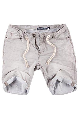 b6af767dc90a Sublevel Jogg Jeans Shorts Herren Kurze Hose Denim Sommer Jogger Bermuda  Chino (Hellgrau, W32)