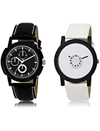 The Shopoholic Black White Combo Fashionable Funky Look Black And White Dial Analog Watch For Boys Watch Mens...