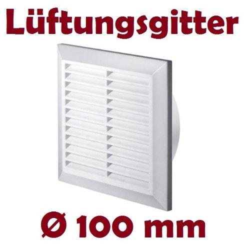 Griglia di ventilazione Louvre, protezione contro gli insetti, rotonda, diametro 100mm, bianco, in polimero ABS, T61