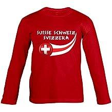 Supportershop – Suiza – Camiseta de Manga Larga para niño, ...