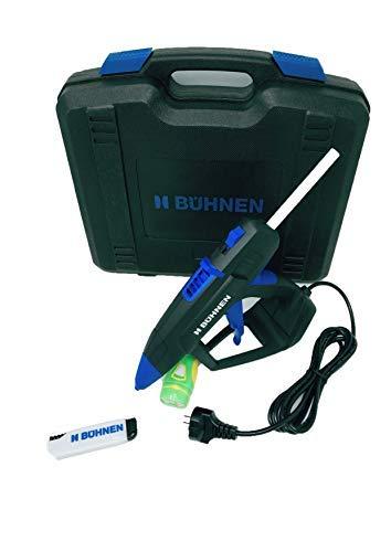 Bühnen Profi Heißklebepistole HB 240-300 Watt im Gerätekoffer + 50 Stk Klebesticks (1 Kg Pack)+ Sicherheitsmesser & LED- Taschenlampe gratis, Klebepistole, Bastelkleber-Set