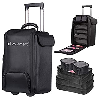 Voilamart Kosmetikkofer mit 6 Kosmetiktasche,Große Trolley Make up Kosmetikkoffer Schminkkoffer Beauty Make-up Case Portable Reise Multikoffer