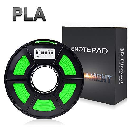Grün PLA 3D Drucker Filament,±0,02 mm Toleranz,1kg/Spule,1,75mm PLA,Umweltfreundliches Filament Geeignet für 3D-Drucker/3D-Druckstift