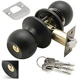 Wolfpack 3030580 Türknauf mit Schloss auf beiden Seiten und Schlüsseln, Schwarz