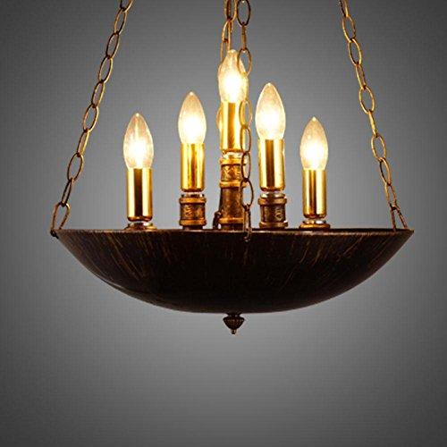 BJVB Rurale dell'acqua Pot lampadario d'epoca industriale Lampadario ferro braciere E14
