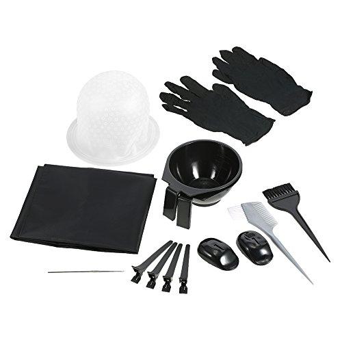 Anself Kit de Coloriage pour Cheveux Dyeing Bowl Brush Salon Tablier Capuchon de Cheveux Crochet Clips de Coupe Outil de Teinture de Coiffure