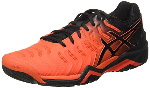 ASICS Gel-Resolution 7 Clay, Scarpe da Tennis Uomo, Rosso (Cherry Tomato/Black 801), 45 EU