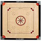 KORNERS Combo of Full Size Carrom Board (Large 32' Inches) with Coins, Striker & Carrom Powder (32' Inches Cut Pocket)