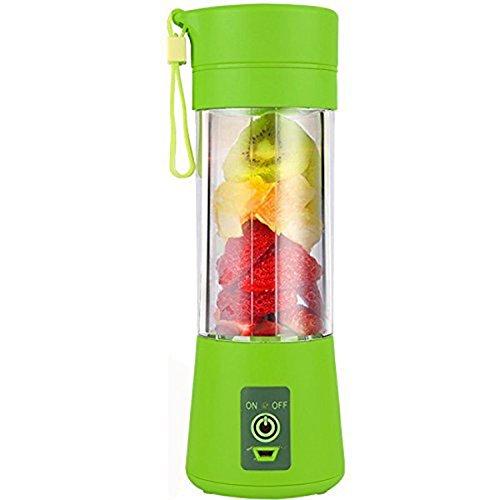 TOOGOO Copa Exprimidor USB, Mezclador portatil de jugo, Mezclador de frutas para el hogar - Seis cuchillas, Maquina de mezcla de frutas 400ml con cable de cargador USB