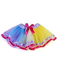 Etosell Jeune Fille Arc-En-Ciel Ballet Danse Pettiskirt Skirt A39