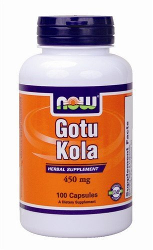 Now Foods Gotu Kola Vegetarisch Vegan 450mg, 100 Kapseln -
