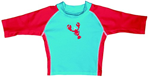 iplay-mod-3qtr-sleeve-rashguard-aqua-red-lobster-size-l-12-18-mois-sun-protection-50-