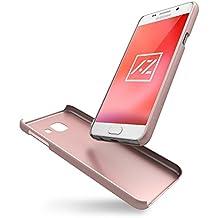 """Funda Samsung Galaxy A3 2016 (4,7"""") Azorm Color Edition Carcasa protectora rigida, Cover Antideslizante y Anti-Arañazos - Rosa (Efecto Metálico)"""