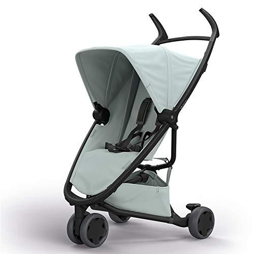 XUE Babywagen, tragbar, Liegen, UV-Schutz mit 5-Punkte-Sicherheitssystem und Multi-Positionierung Liegen-Sitze Extended Canopy Easy One Hand Fold Large Storage Basket