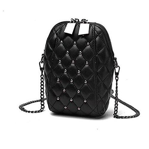 Tracolla In Pelle Messenger Bag Catena Signora Mini Confezione Del Telefono,Blue black