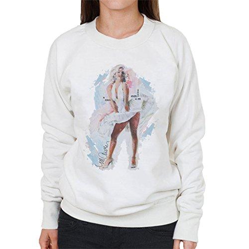 Sidney Maurer Marilyn Monroe Skirt Official Womens Sweatshirt white