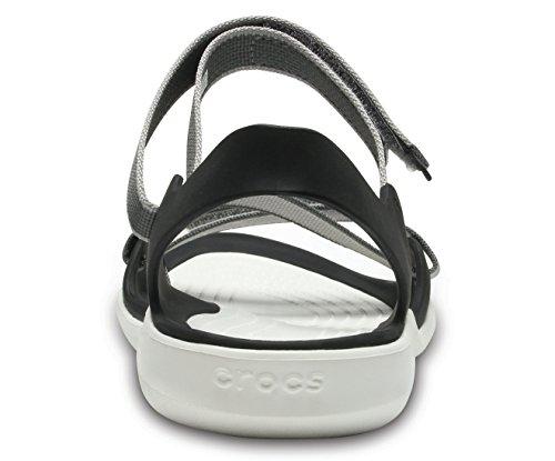 eb6c82f2ee4b Buy crocs Women s Swiftwater Webbing W Fashion Sandals on Amazon ...