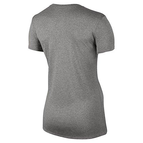 Grey a SS donna NK Dry Heather Dk Nike Cool Legend VNECK per Grey Grigio maniche corte W Tee–Maglietta nPggWw6