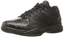 Fila Mens Bank Basketball Shoe, Black/Black/Metallic Silver, 9.5 M US