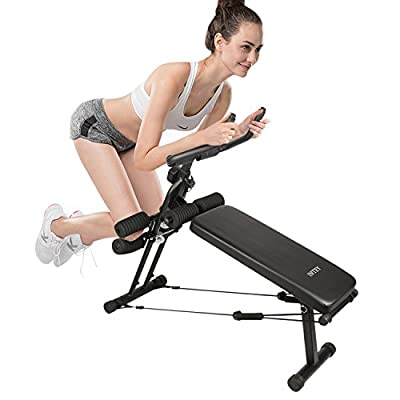 INTEY Abdominal Bench, Adjustable Sit Up Bench Abdominal Ab Crunch Weight Bench Home Gym Exercise Equipment from INTEY
