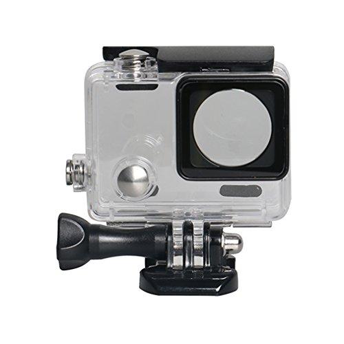 juqilu Schutzgehäuse Wasserdicht Gehäuse für Gopro 4 Hülle Unterwasser Gehäuse, für Verwendung der Sport-Kamera bis 45 m unter Wasser