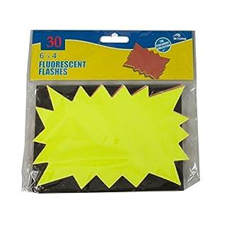 H.K. Trading Ltd 63,5x 15,2x 10,2cm Fluoreszierende Sterne, Verschiedene Neon Flash Cards