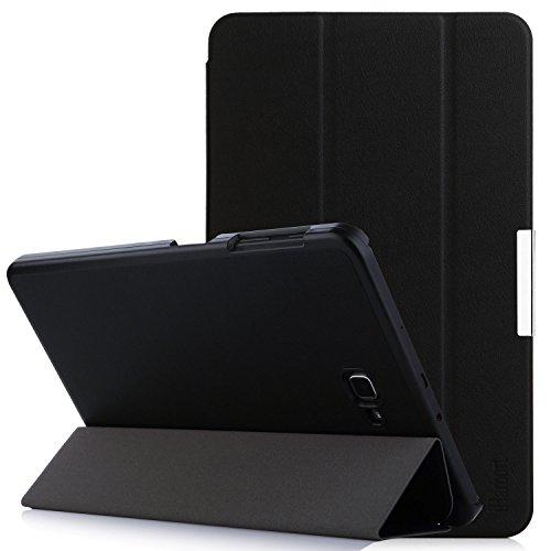 Samsung Galaxy Tab A 10.1 Hülle – iHarbort® Premium Samsung Galaxy Tab A 10.1 Zoll (2016 Version SM-T580N SM-T585N) Leder Tasche Hülle Etui Schutzhülle Case Cover Holder Stand mit Smart Auto Wake / Sleep-Funktion (Schwarz II)