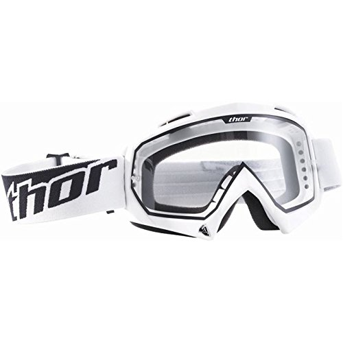 THOR ENEMY SOLID GOGGLE BRILLE WEISS QUAD OFFROAD CROSS ENDURO MX SX MOTOCROSS ATV MTB