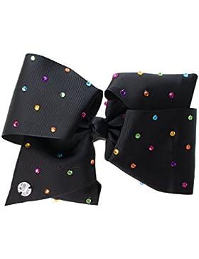JoJo Siwa - Cinta de Pelo con diamante de imitación para niñas - JoJo - Negro