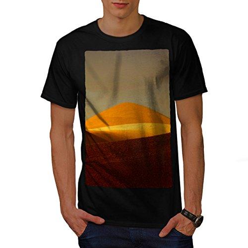 Wüste Sonnenuntergang Sand Natur Sachara Herren M T-shirt | Wellcoda (Mooses Berg Elch)