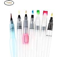 Neborn - Juego de pinceles para acuarela (8 unidades, 7 lápices de pincel de acuarela multiusos)