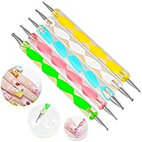 5 x Da. WA Colorful 2 way Dotting Pen Tool Kit de manicura uñas arte punta Dot pintura