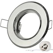 12/X Spot Cadre de montageavec douille GU10/Chrom/é//Fer brillant oscillant