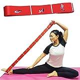 Aeman Elastico Fasce di Resistenza con 8 Loops per Bambini e Adulti - Bande Fitness per Pilates, Stretching, Fitness, Ginnastica, Danza e Allenamento (100cm Rossa)
