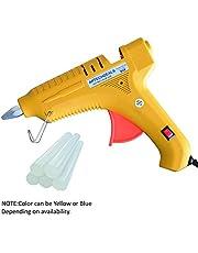 APTECH DEALS Crown 80W Hot Melt Standard Temperature Corded Glue Gun with 5 Glue Stick (Blue)