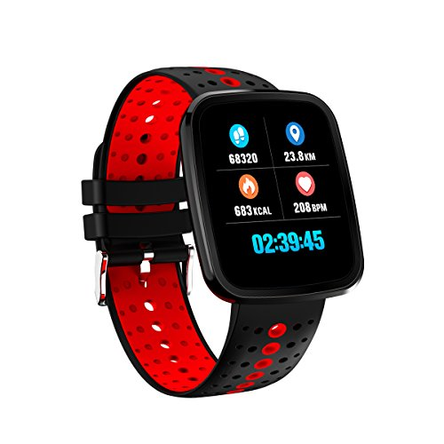 Ediand Smart Watch Smart Bund Bunte Bildschirm Sportuhr Wasserdichte Herzfrequenz Blutdruck Armband Schlaf Monitor