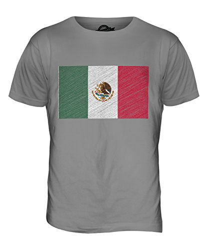 CandyMix Mexiko Kritzelte Flagge Herren T Shirt Hellgrau