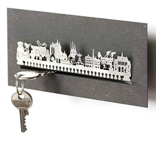 13gramm Erfurt-Skyline Schlüsselbrett Souvenir in der Geschenk-Box