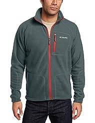 Columbia Fast Trek II Full Zip Fleece - Forro polar, color grafito / picante, talla XXL