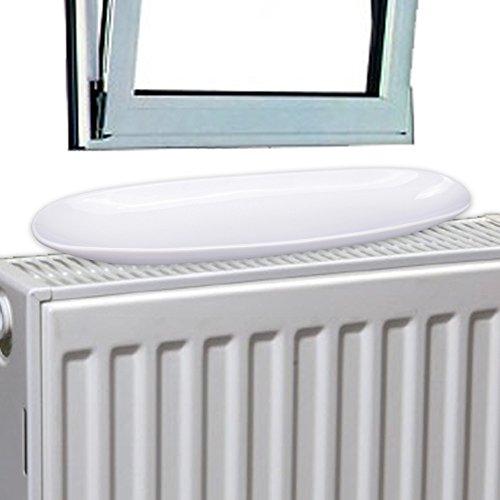 Luftbefeuchter-Schale 3,5 x 39,5 x 10 cm aus Porzellan Modell